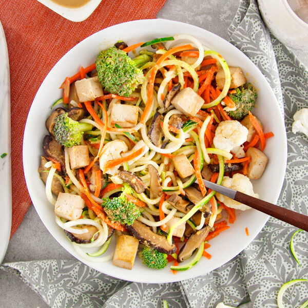 Kenko Spiralized Vegetable Bowl with Tofu & Shiitake