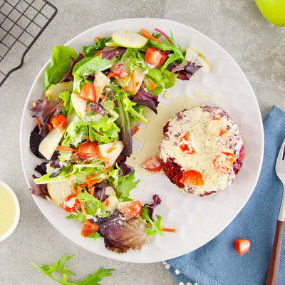 Smoky Bun-less Beet Burger with Cilantro Lime Dressing-square view