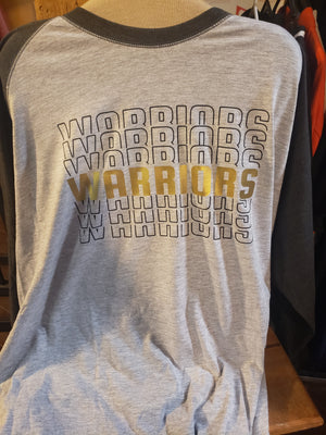 Open image in slideshow, Warriors Repeat 3/4 Sleeve