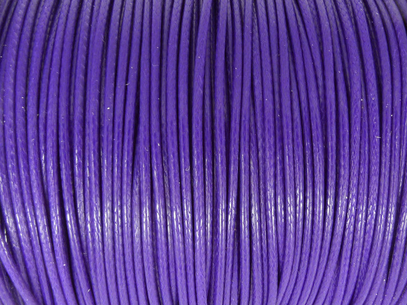 Baumwoll Kordel Korean Wax Cord 1mm in lila