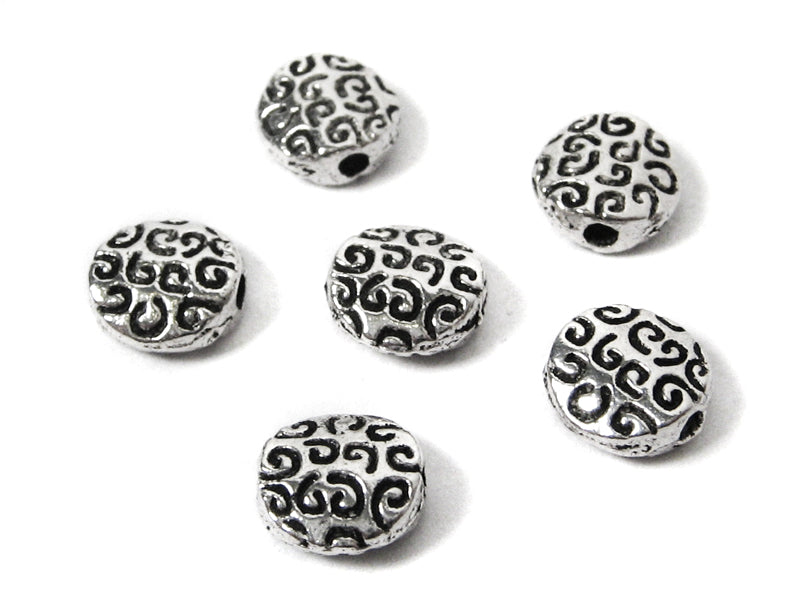 "Metallperlen Spacer ""Buttons"" 8 mm - 10 Stück"
