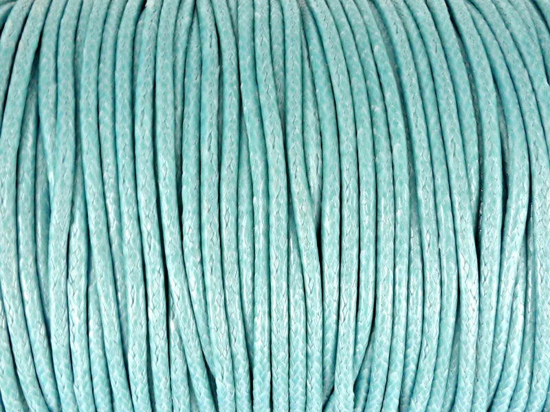 Baumwoll Kordel Korean Wax Cord 2mm in hellblau - 1 Meter