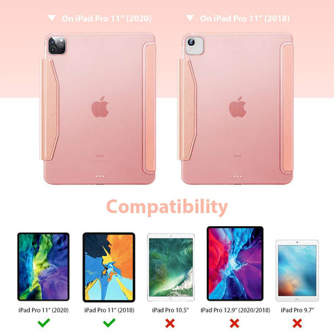 ESR Apple iPad Pro 11 2020 Yippee Color Hoes Rose Goud