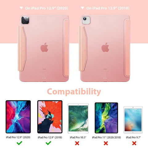 ESR Apple iPad Pro 12.9 2020 Yippee Color Case - Rose Goud