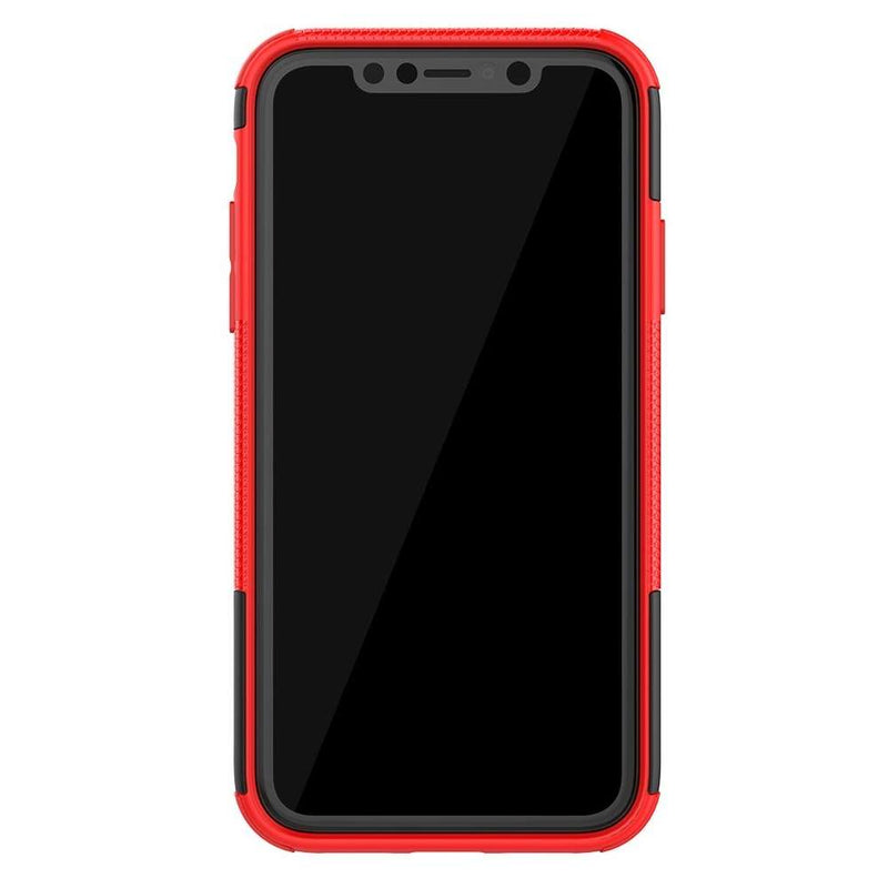 Apple iPhone 11 Rugged Hybrid Hoesje Rood