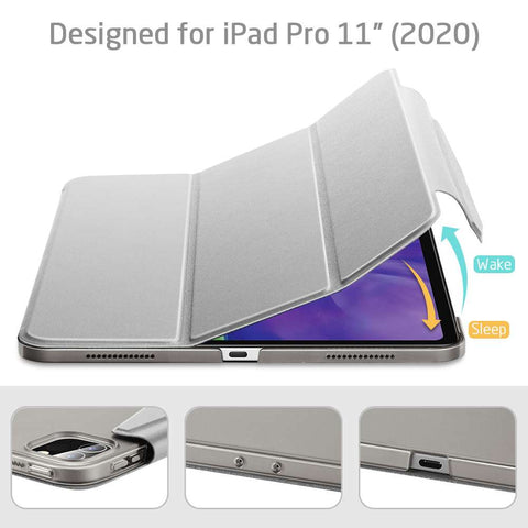 ESR Apple iPad Pro 11 2020 Yippee Color Hoes Silver Gray