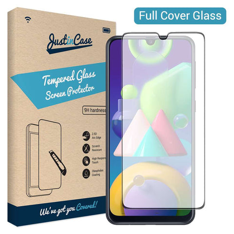 Just in Case Full Cover Tempered Glass Samsung Galaxy M21 Zwart
