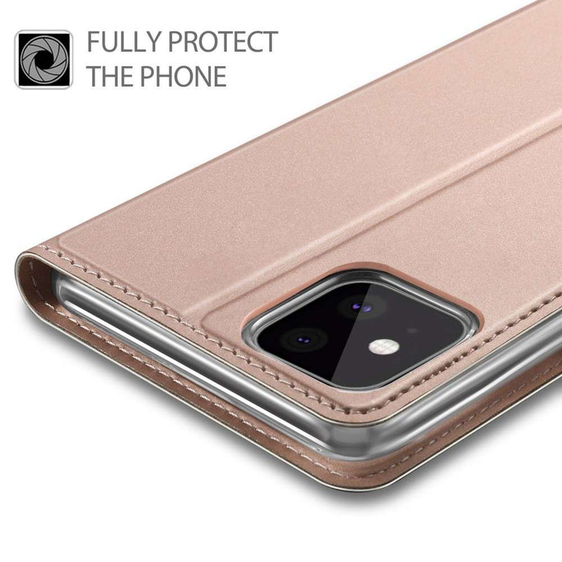Apple iPhone 11 Pro Max TPU Wallet Hoesje - Rose Goud