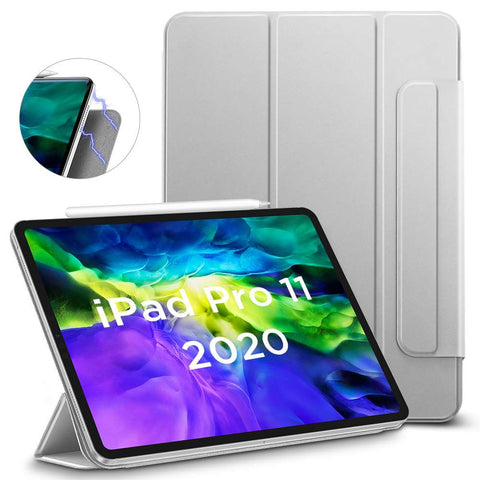 ESR Apple iPad Pro 11 2020 Yippee Color Magnetic Hoes Silver Gray