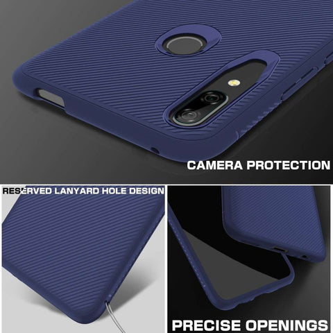 Just in Case Texture TPU Huawei P Smart Z Case - Blauw