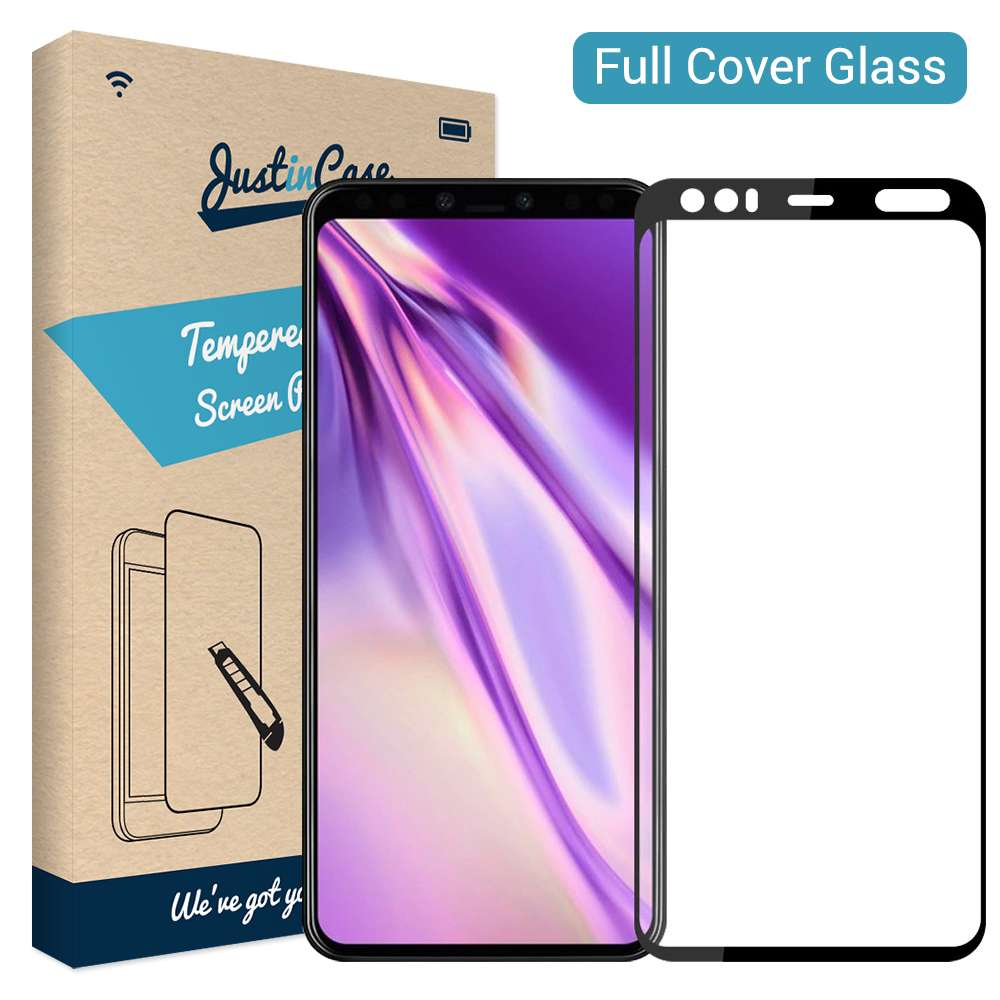 Just in Case Full Cover Tempered Glass Google Pixel 4 XL Zwart