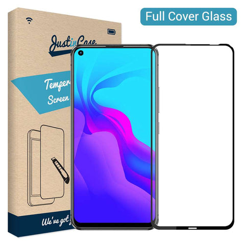 Just in Case Full Cover Tempered Glass Huawei P20 Lite 2019 - Zwart