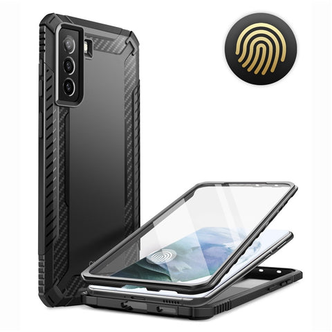 Supcase Clayco Xenon Full Screen Samsung Galaxy S21 Plus hoesje - Zwart