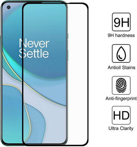 Full Cover Tempered Glass OnePlus 9 zwart