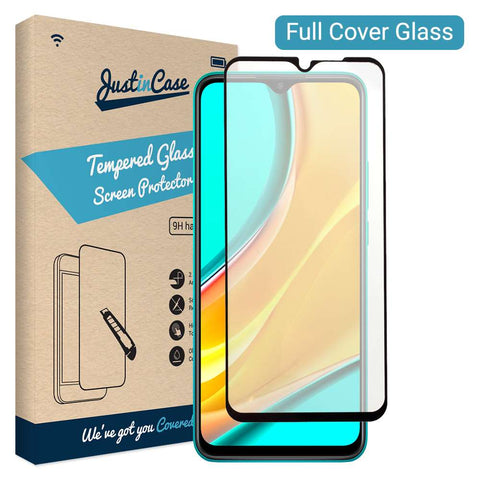 Just in Case Full Cover Tempered Glass Xiaomi Redmi 9 Zwart