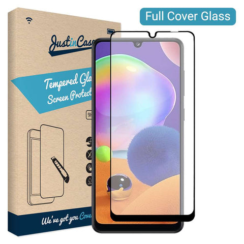 Just in Case Full Cover Tempered Glass Samsung Galaxy A31 Zwart