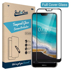 Just in Case Full Cover Tempered Glass Nokia 6.2 / 7.2 Zwart
