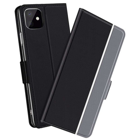 Apple iPhone 11 Fashion TPU Wallet Hoesje - Zwart