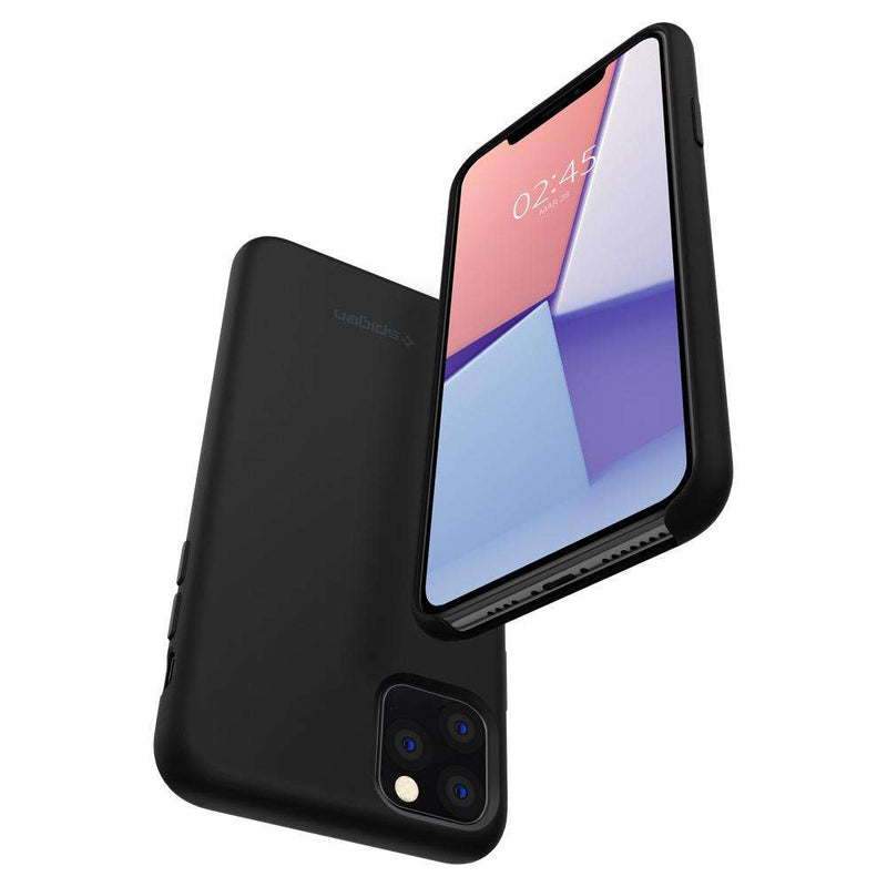 Apple iPhone 11 Pro Spigen Hoesje Silicone Fit Zwart
