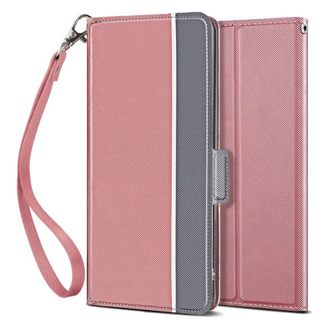 Apple iPhone 11 Pro Max Fashion TPU Wallet Hoesje - Rose Goud