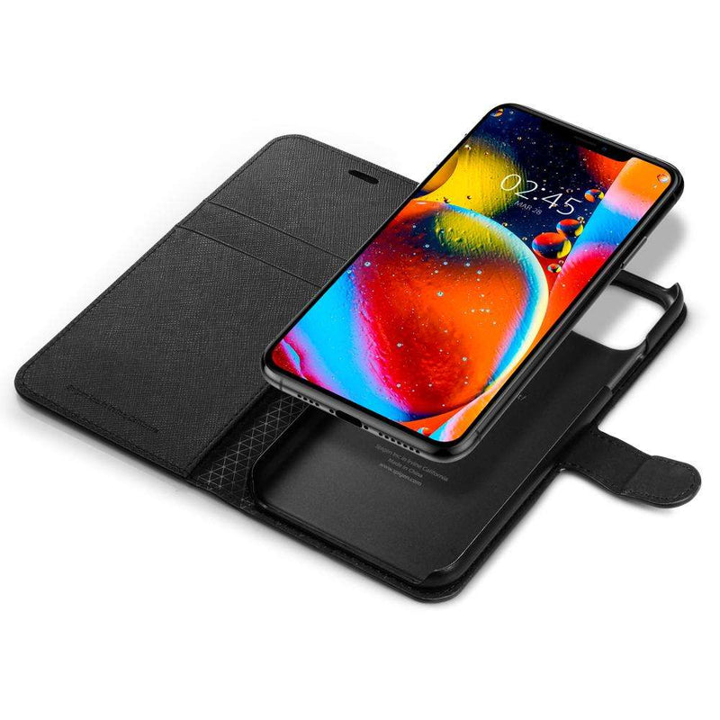Apple iPhone 11 Pro Max Spigen Wallet S Hoesje Zwart
