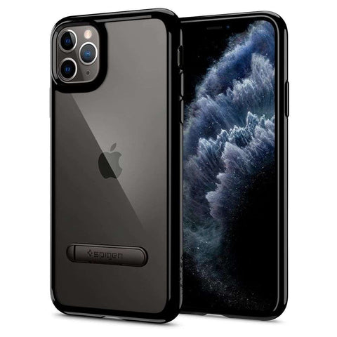 Apple iPhone 11 Pro Max Spigen Ultra Hybrid S Hoesje - Zwart