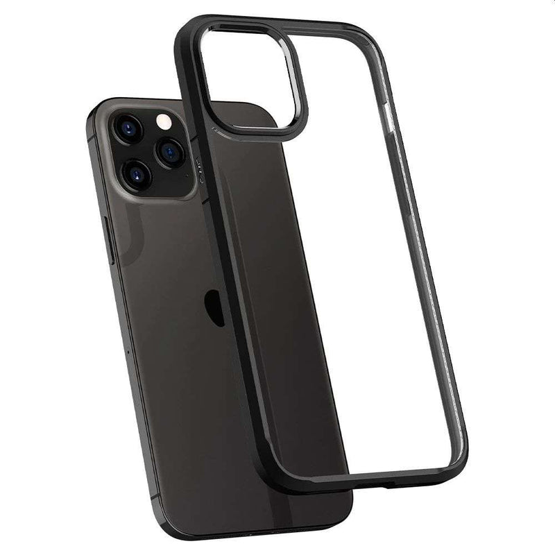 Apple iPhone 12/12 Pro Hoesje Spigen Ultra Hybrid Zwart