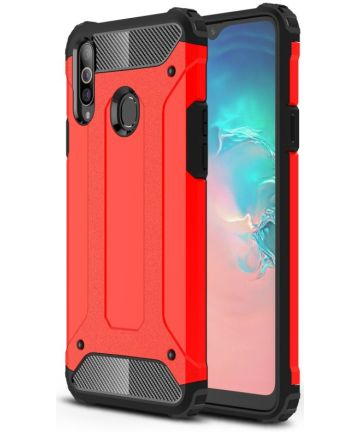 Samsung Galaxy A20s Hoesje Shock Proof Hybride Back Cover - Rood