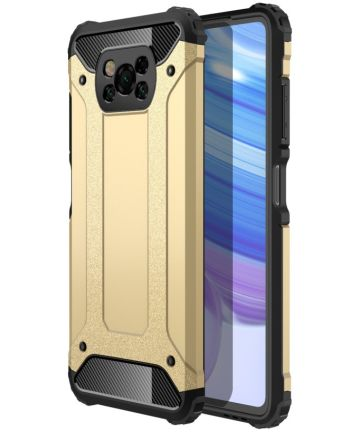 Xiaomi Poco X3 Hoesje Shock Proof Hybride Back Cover Goud