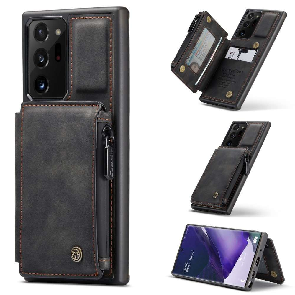 CASEME Samsung Galaxy Note 20 Ultra Back Cover Wallet Hoesje - Zwart