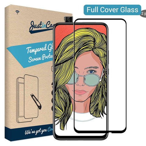Just in Case Full Cover Tempered Glass Huawei P Smart Z - Zwart