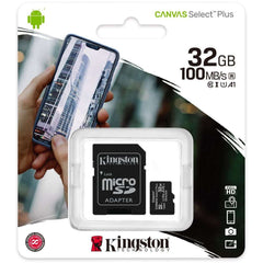 Kingston Canvas Select Plus microSD Card 10 UHS-I - 32GB - inclusief SD adapter