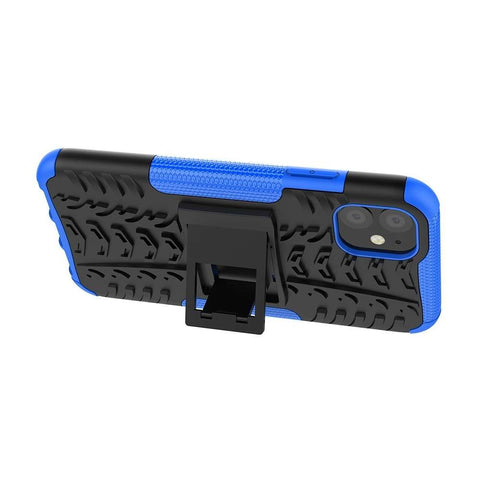 Apple iPhone 11 Rugged Hybrid Hoesje Blauw