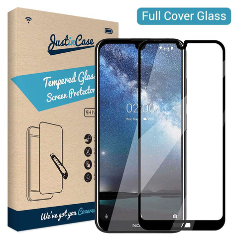 Just in Case Full Cover Tempered Glass Nokia 2.2 - Zwart