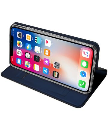 Dux Ducis Apple iPhone XS Max Premium Bookcase Hoesje Blauw