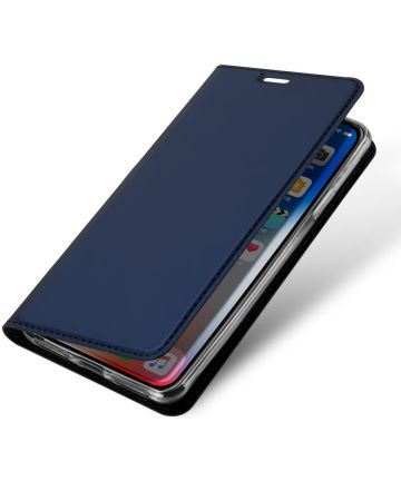 Dux Ducis Apple iPhone XR Premium Bookcase Hoesje Blauw