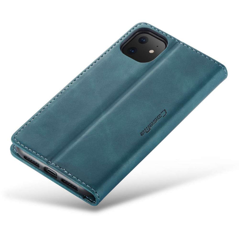 CASEME Apple iPhone 11 Retro Wallet Hoesje - Blauw