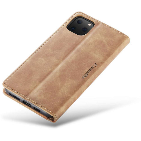 CASEME Apple iPhone 11 Pro Max Retro Wallet Hoesje - Bruin