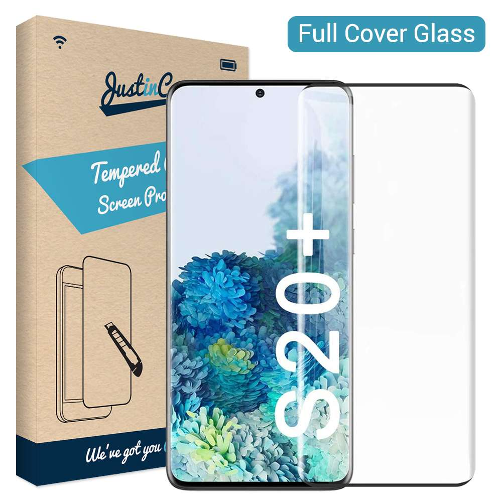 Full Cover Tempered Glass Samsung Galaxy S20 Plus Zwart