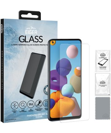 Eiger 3D GLASS Case Friendly Samsung Galaxy A21s Screen Protector