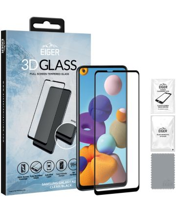 Eiger 3D GLASS Samsung Galaxy A21s Tempered Glass Screenprotector
