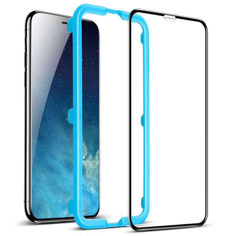 ESR 3D Full Cover Glass Apple iPhone Xr with installation frame Black