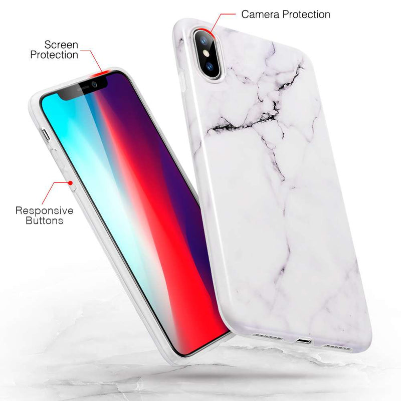 ESR Apple iPhone XS Max Hoesje Marble Wit
