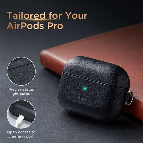 ESR Metro Leather AirPods Pro Hoes Zwart