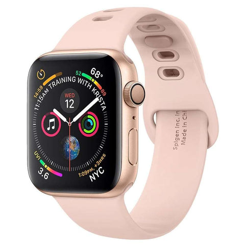 Spigen Apple Watch 44MM / 42MM Air Fit Armband - Rose goud