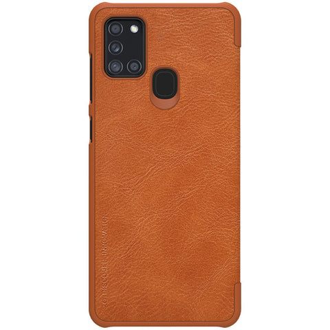 Samsung Galaxy A21s - Qin Leather Case - Bruin