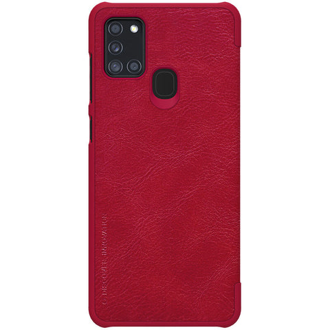 Samsung Galaxy A21s - Qin Leather Case - Rood