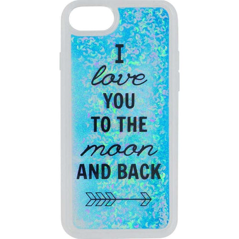 Funtastix Apple iPhone SE 2020 / iPhone 7/8 Glitter Hoesje - Moon and Back