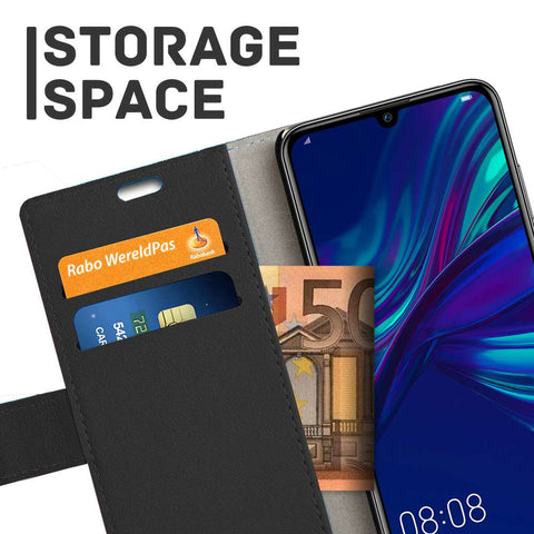 Just in Case Huawei P Smart Plus 2019 Wallet Case - Zwart