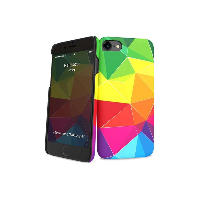 i-Paint Apple iPhone SE 2020 / iPhone 7/8 hoesje - Rainbow